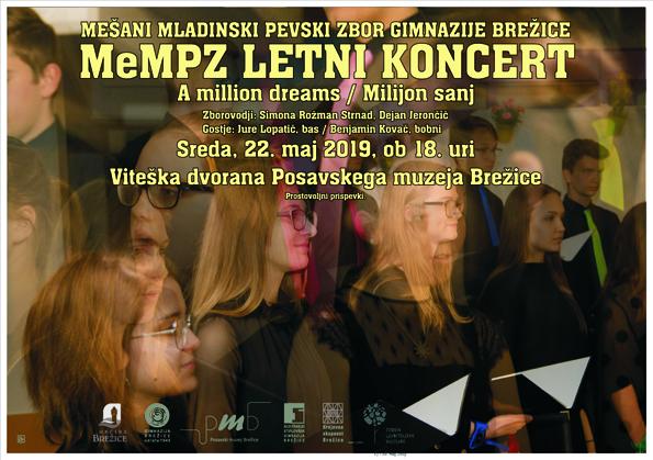 Vabljeni na letni koncert MeMPZ Gimnazije Brežice
